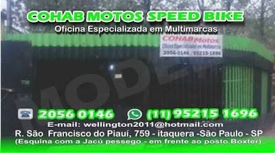 COHAB MOTOS SPEED BIKE OFICINA ESPECIALIZADA MULTI MARCAS